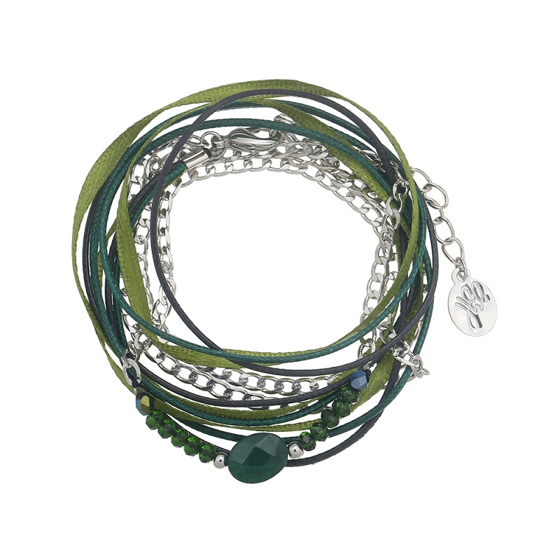 vihreä-rannekoru